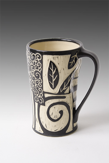 Patches Mug - Ceramic Mug - by Jennifer Falter