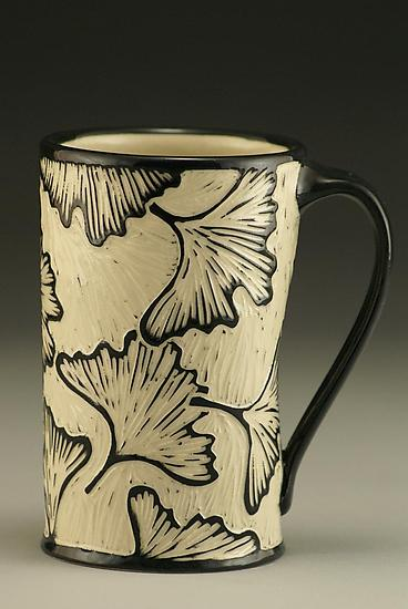 Ginkgo Mug - Ceramic Mug - by Jennifer Falter