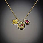Gold, Silver, & Stone Necklace by Ananda Khalsa