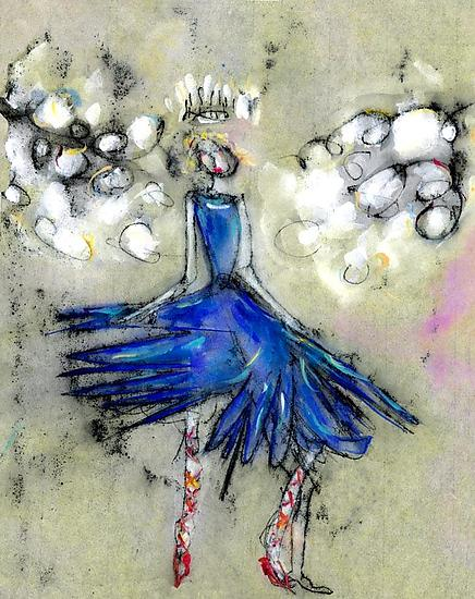 Snow Queen Fairy No. 1 - Giclee Print - by Roberta Ann Busard