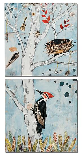 Peppertree Park Diptych - Giclée Print on Wood - by Dolan Geiman