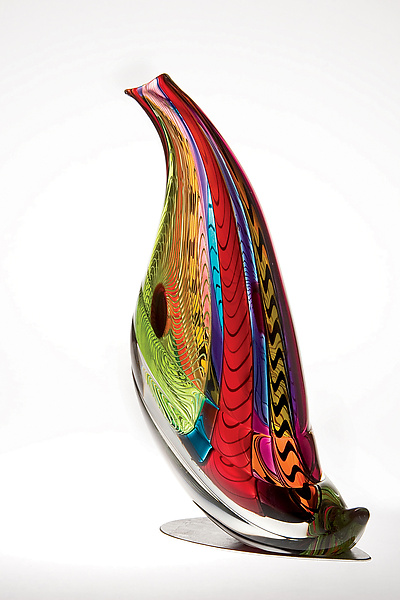 Quail Sculpture - Art Glass Sculpture - by Mike Wallace