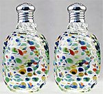 Art Glass Salt and Pepper Shakers by Gazelle Art Glass