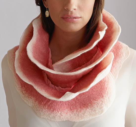 Belle Rose Scarf - Silk & Wool Scarf - by Jenne Giles