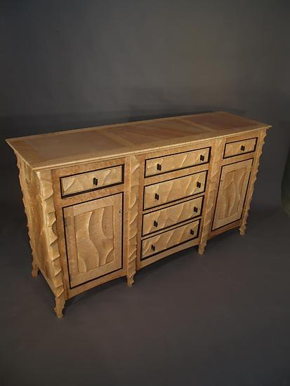 Carved Sideboard - Wood Sideboard - by John Wesley Williams