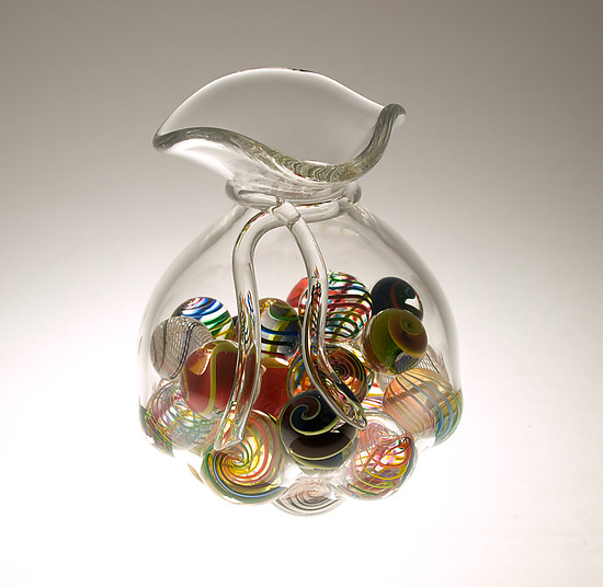 Bag O Marbles - Art Glass Sculpture - by Mike Wallace