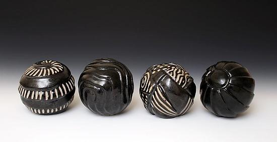 Small Sphere Sculpture - Ceramic Sculpture - by Larry Halvorsen