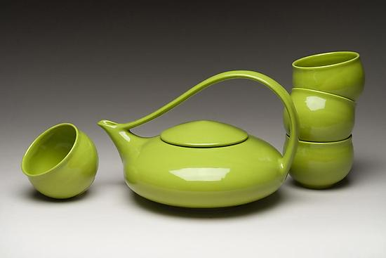 Classic Tea in Tequila Lime - Ceramic Teapot - by Judith Weber