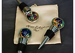 Art Glass Wine Stoppers by Karen Ehart
