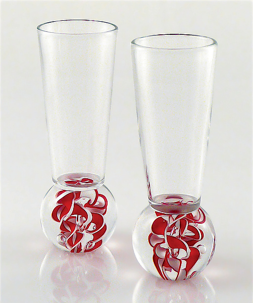Love Cordials - Art Glass Glasses - by Michael Egan