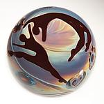 Art Glass Paperweight by Elodie Holmes