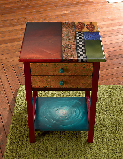 Two Drawer End Table - Wood Side Table - by Wendy Grossman
