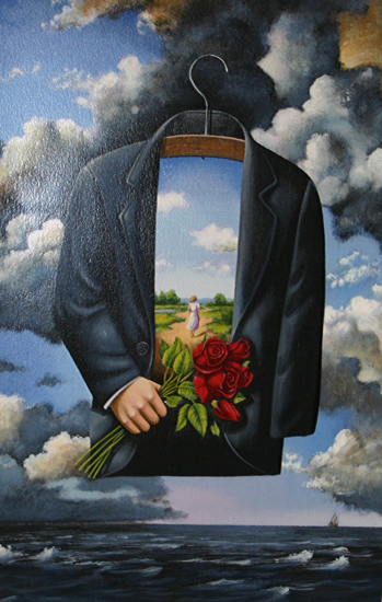 Graceful Dream of Poetic Glory - Serigraph Print - by Rafal Olbinski