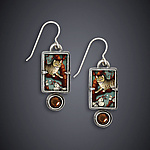 Silver & Stone Earrings by Dawn Estrin