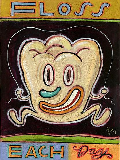 Floss Each Day - Giclee Print - by Hal Mayforth