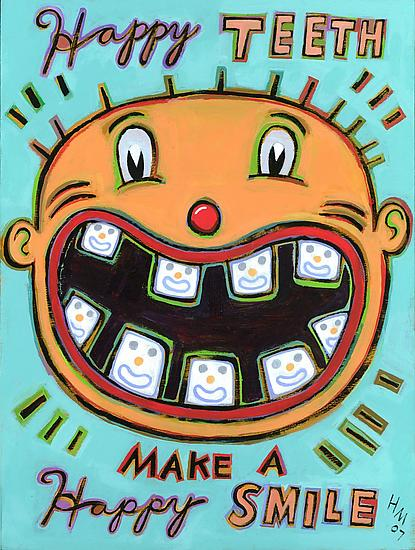Happy Teeth Make a Happy Smile - Giclee Print - by Hal Mayforth