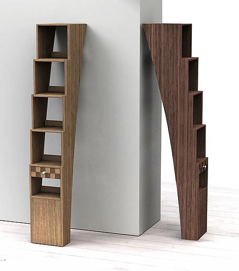 Stair Shelf - Wood Shelf - by Michel Rouleau and Patricia Gendron