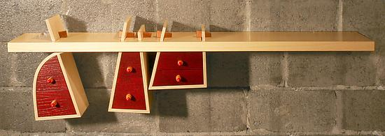 Bundle shelf - Wood Shelf - by Michel Rouleau and Patricia Gendron