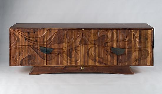 Tsunami Credenza - Wood Sideboard - by Michael Wilson