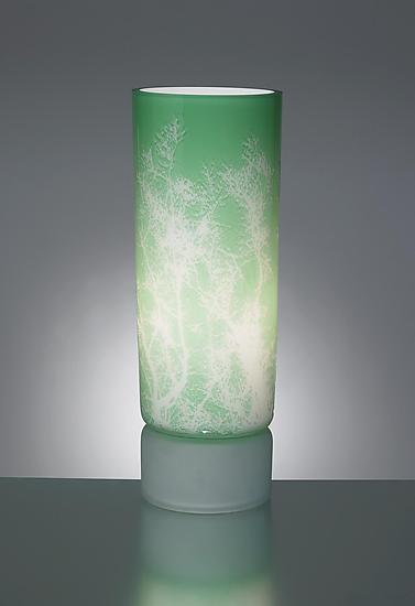 Baby's Breath Table Lamp - Art Glass Table Lamp - by Moshe Bursuker