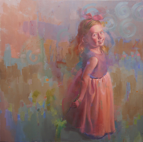 Savanah at Play - Oil Painting - by Cathy Locke