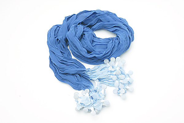 Epidermis Ocean Blue Scarf - Silk Scarf - by Yuh Okano