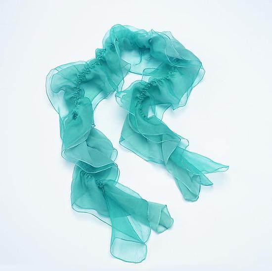 Water Blue Petal of Silk Scarf - Silk Scarf - by Yuh Okano