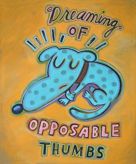 Dreaming of Opposable Thumbs - Giclee Print - by Hal Mayforth