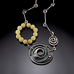 Silver & Stone Necklace by Erica Stankwytch Bailey