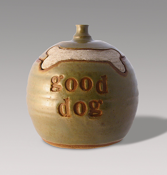 Good Dog Treat Jar - Ceramic Jar - by Louise Bilodeau