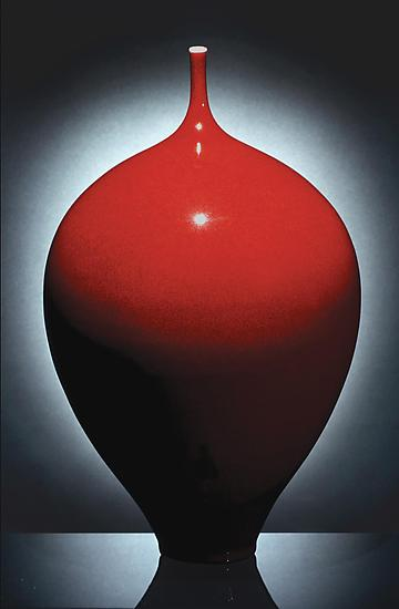 Red 10 - Ceramic Vase - by Justin Teilhet