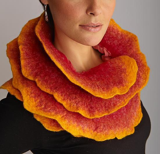 Sunrise Rose Scarf - Silk & Wool Scarf - by Jenne Giles