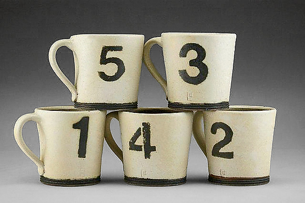 Number Mugs - Ceramic Mug - by Nathan Falter