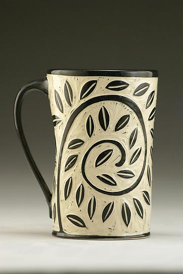 Vine and Leaf Mug - Ceramic Mug - by Jennifer Falter