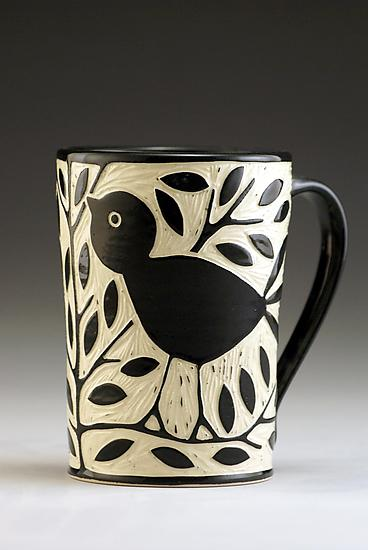 Blackbird Mug - Ceramic Mug - by Jennifer Falter