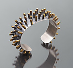 Silver & Brass Bracelet by Connie Verrusio