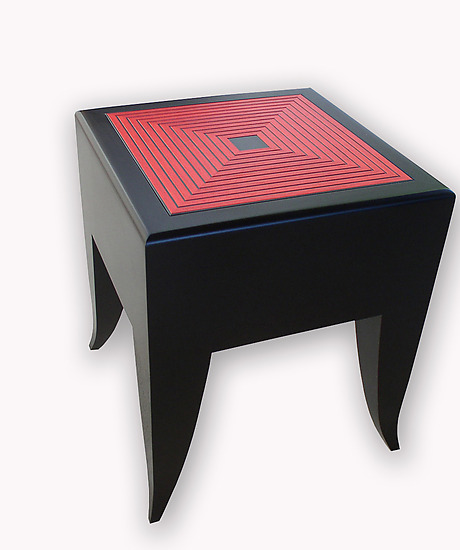 Maze Stool/Table - Wood Side Table - by Kevin Irvin