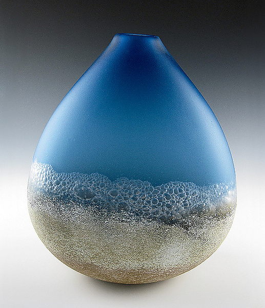 Shoreline - Art Glass Vessel - by Daniel Scogna