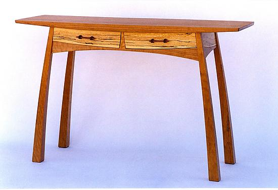 Two-Drawer Hall Table - Wood Console Table - by Steven M. White