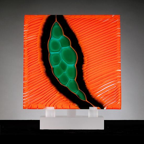 Origins No. 10 - Art Glass Sculpture - by Rhoda Baer