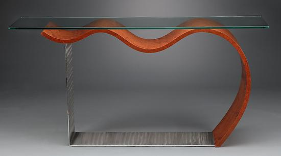 Flying Console Table - Wood Console Table - by Richard Judd