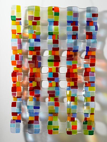 Small Retro Mesh Sculpture - Art Glass Sculpture - by Renato Foti