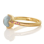 Gold & Stone Ring by Adel Chefridi