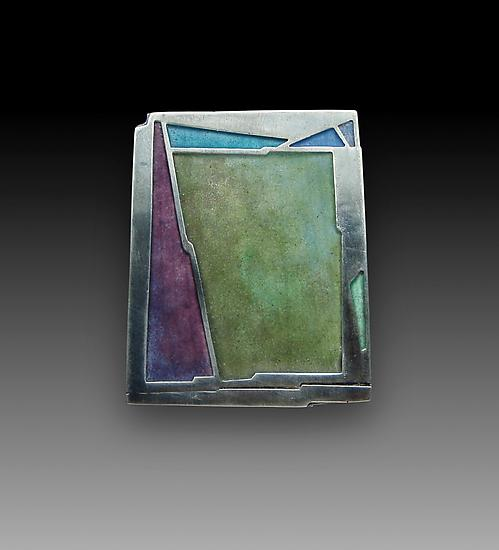 Moss Pin No. 220 - Enameled Pin - by Carly Wright