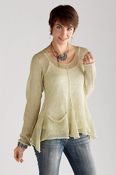 Renata Sweater - Linen Sweater - by Sue Peterson