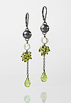 Silver, Stone, & Pearl Earrings by Anna Whitmore