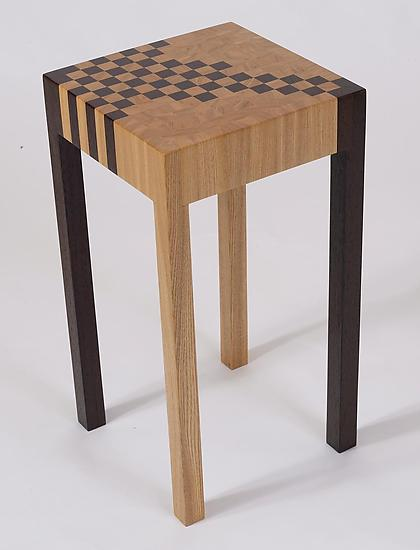 Checker Table - Wood Side Table - by Karel Aelterman