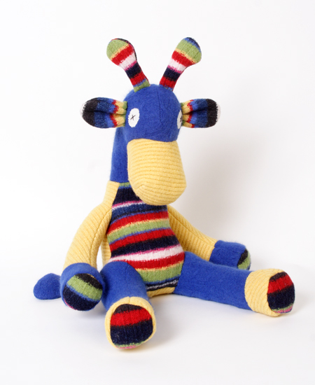 Giraffe - Wool Stuffed Animal - by Josh Title