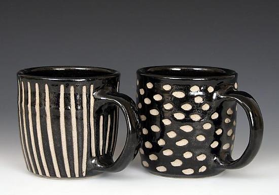 Wheel Thrown Mugs - Ceramic Mug - by Larry Halvorsen