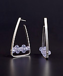 Silver & Stone Earrings by Ayala Naphtali